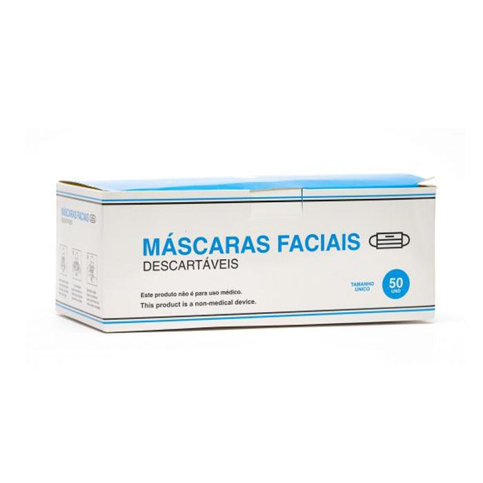 Máscara Cirúrgica em PP Azul c/Elástico - 50 unidades